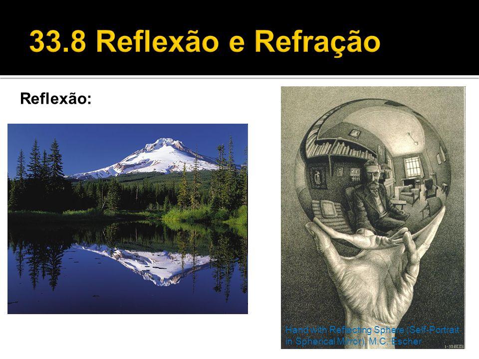 33.8 Reflexão e Refração Reflexão: