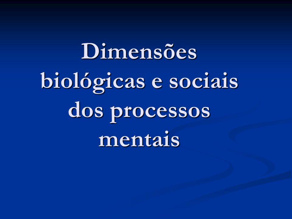 Dimensões biológicas e sociais dos processos mentais