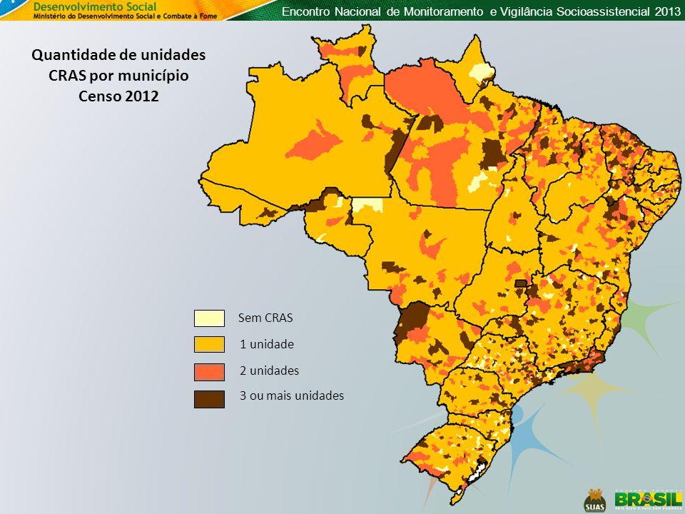 Quantidade de unidades CRAS por município
