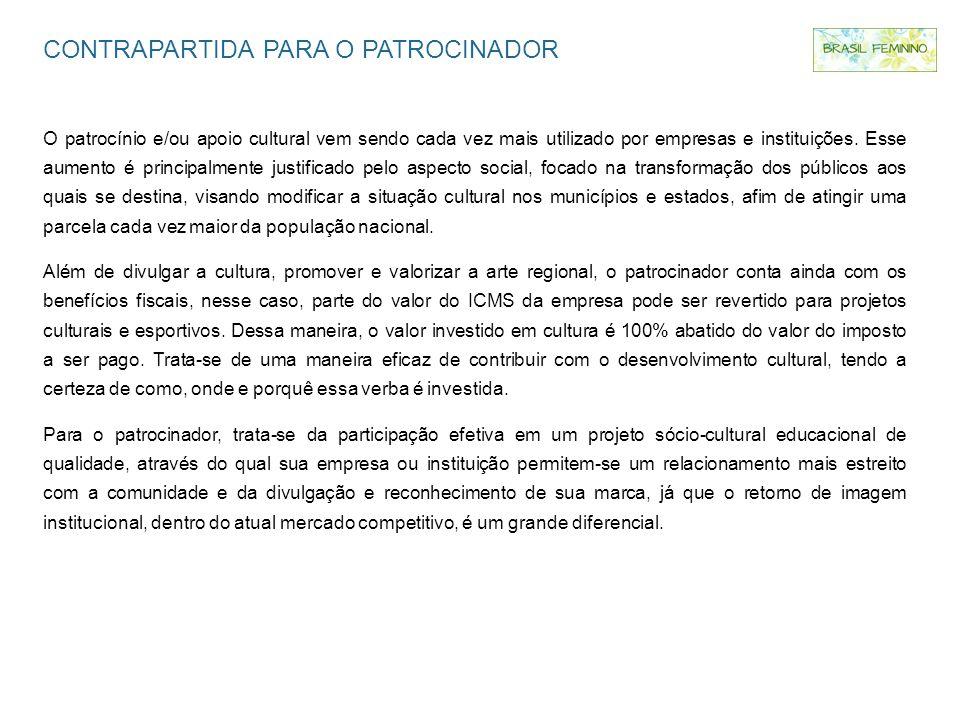 CONTRAPARTIDA PARA O PATROCINADOR