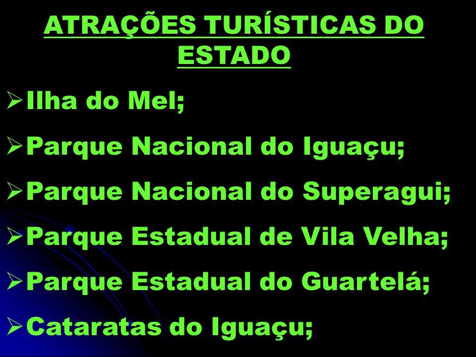 ATRAÇÕES TURÍSTICAS DO ESTADO