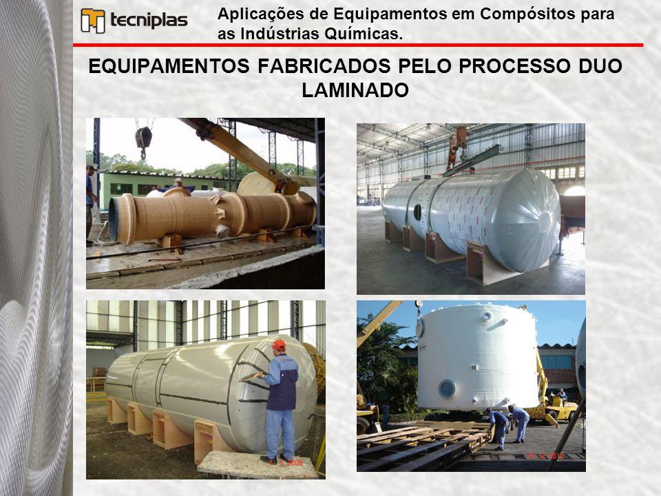 EQUIPAMENTOS FABRICADOS PELO PROCESSO DUO LAMINADO