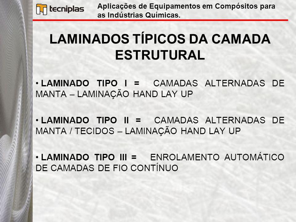 LAMINADOS TÍPICOS DA CAMADA ESTRUTURAL