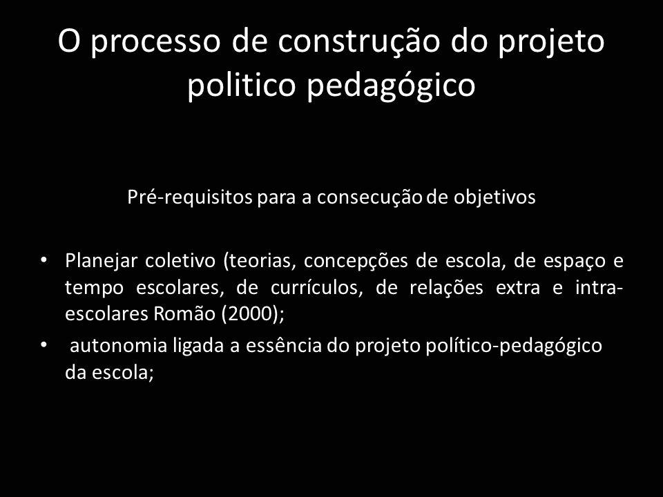 O processo de construção do projeto politico pedagógico