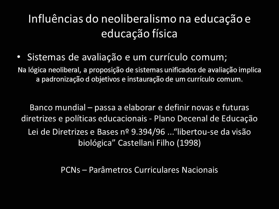 Influências do neoliberalismo na educação e educação física