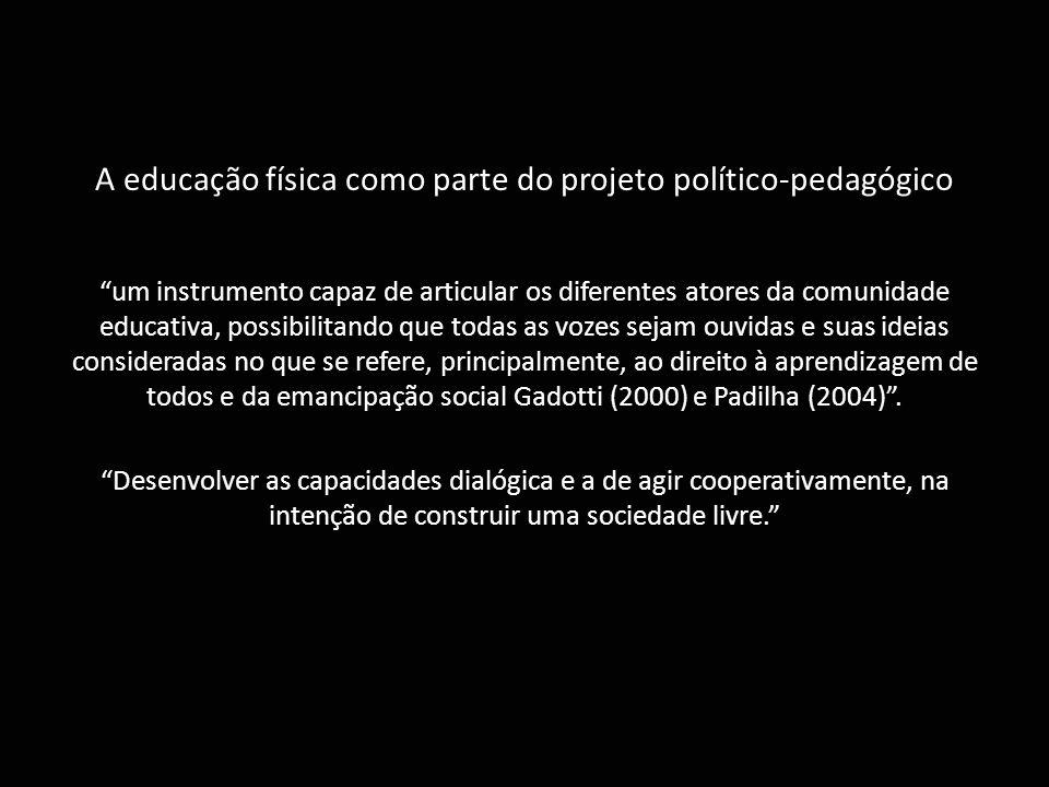 A educação física como parte do projeto político-pedagógico
