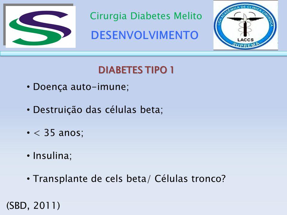 DESENVOLVIMENTO Cirurgia Diabetes Melito DIABETES TIPO 1