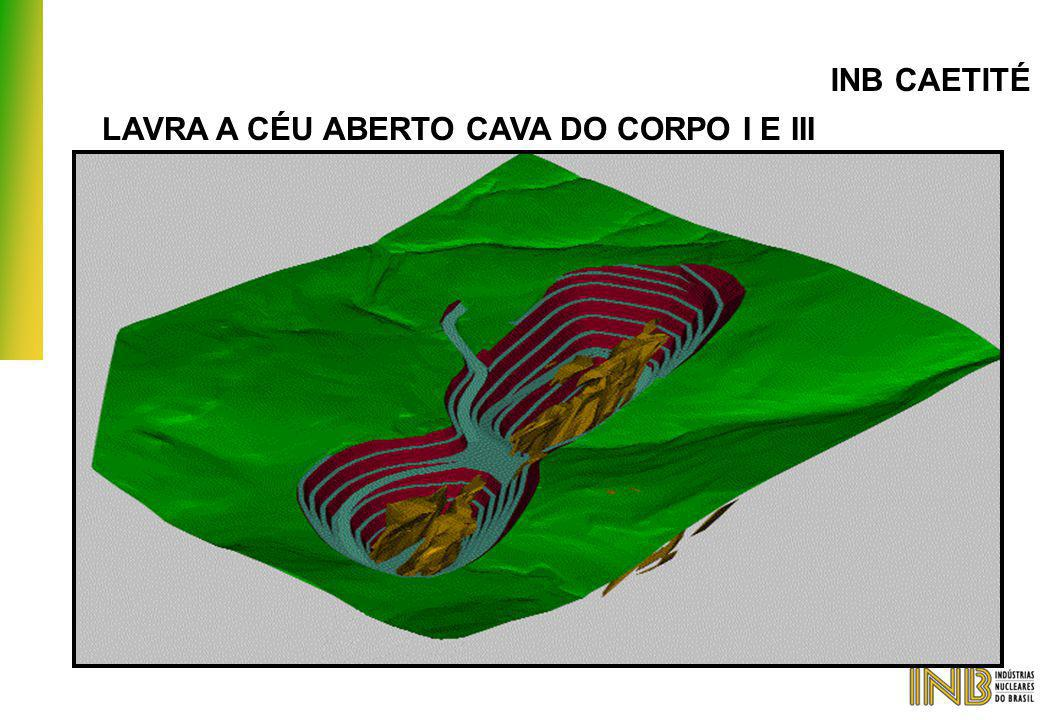 INB CAETITÉ LAVRA A CÉU ABERTO CAVA DO CORPO I E III