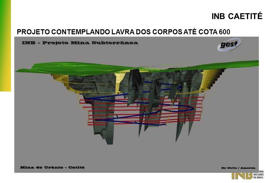 INB CAETITÉ PROJETO CONTEMPLANDO LAVRA DOS CORPOS ATÉ COTA 600