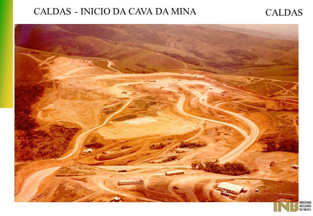 CALDAS - INICIO DA CAVA DA MINA