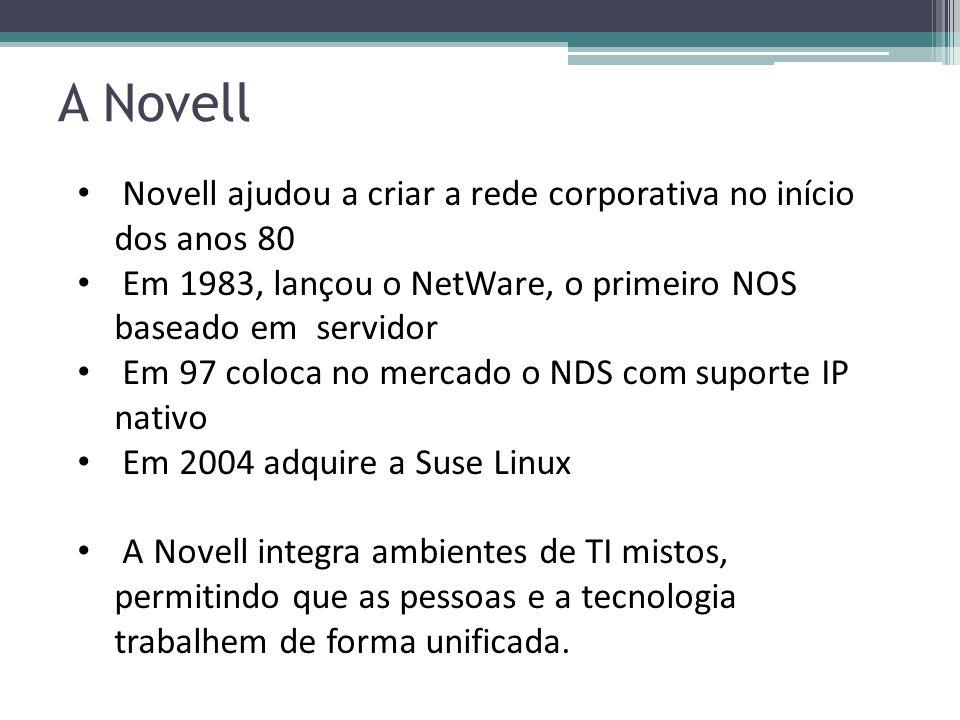 A Novell Novell ajudou a criar a rede corporativa no início dos anos 80. Em 1983, lançou o NetWare, o primeiro NOS baseado em servidor.