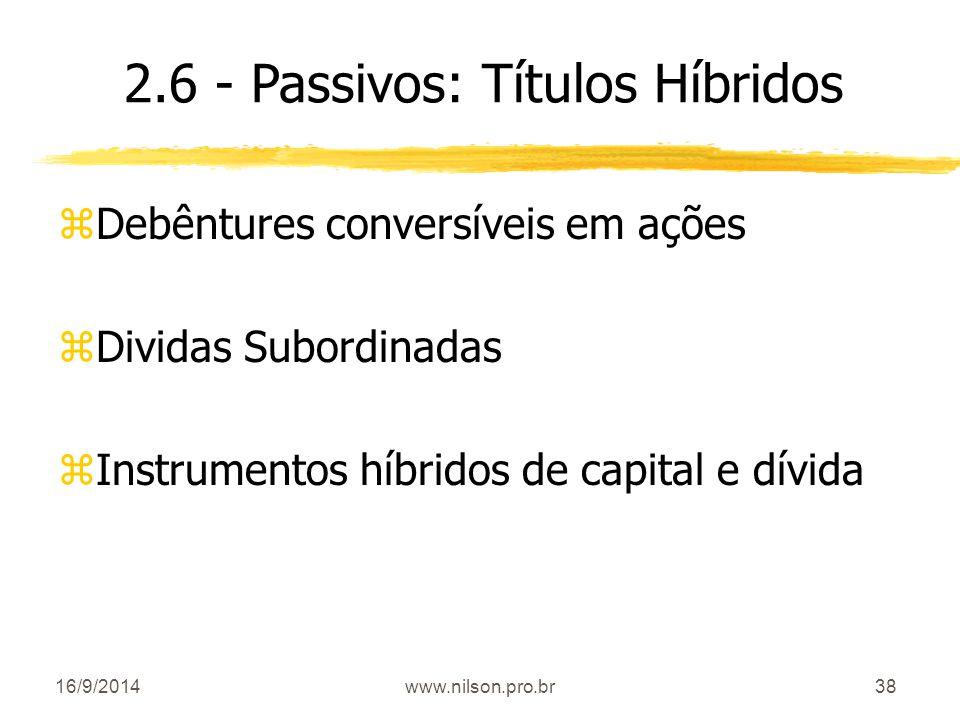 2.6 - Passivos: Títulos Híbridos