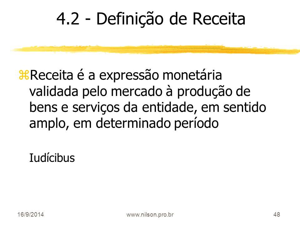 4.2 - Definição de Receita