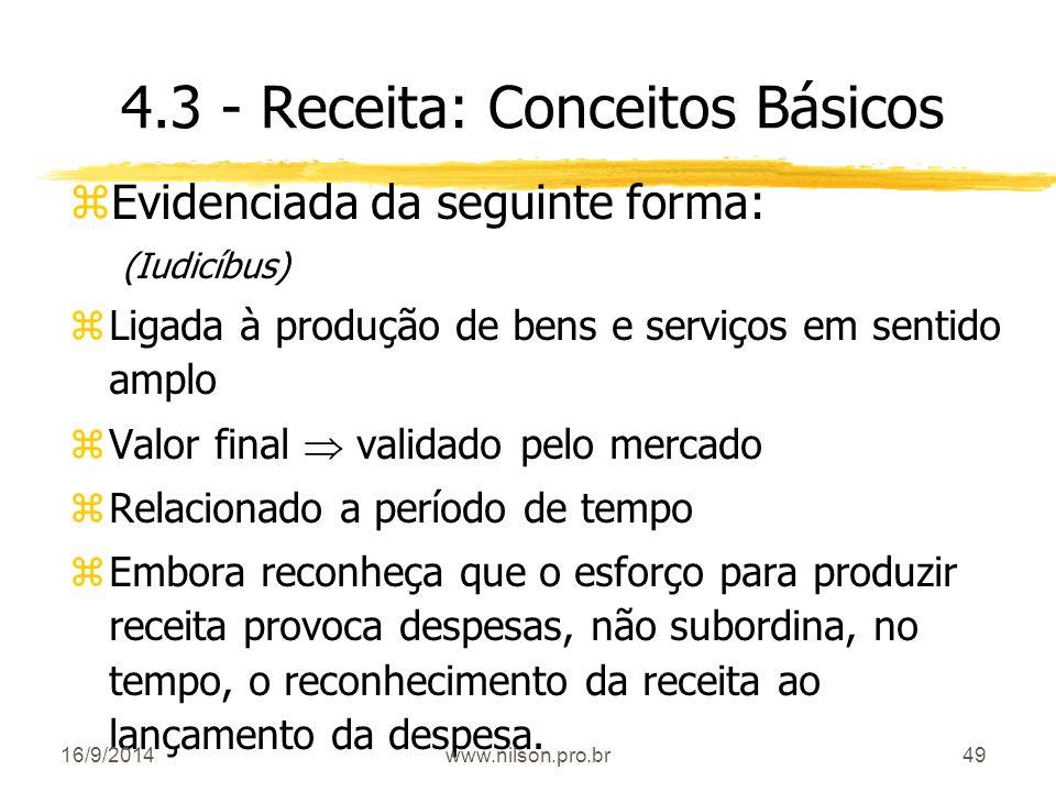 4.3 - Receita: Conceitos Básicos