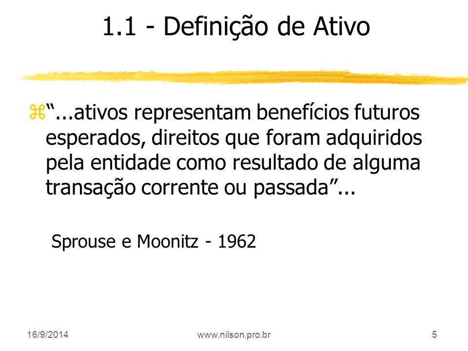 1.1 - Definição de Ativo