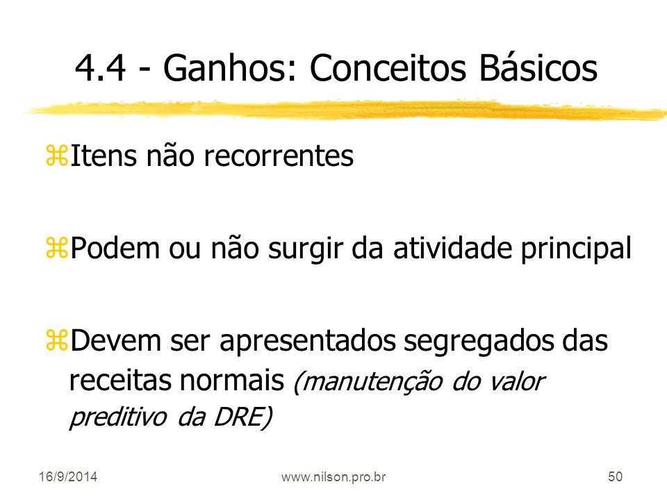 4.4 - Ganhos: Conceitos Básicos