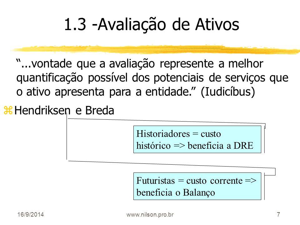 1.3 -Avaliação de Ativos