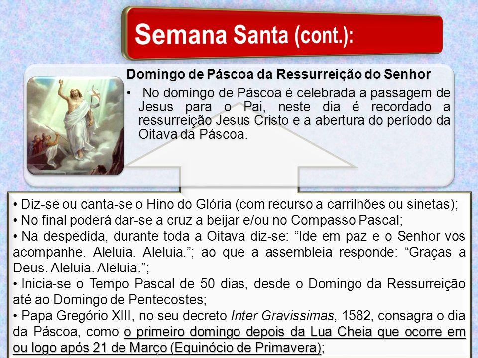 Semana Santa (cont.): Domingo de Páscoa da Ressurreição do Senhor
