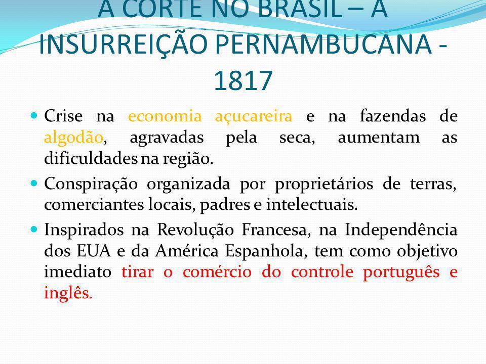 A CORTE NO BRASIL – A INSURREIÇÃO PERNAMBUCANA - 1817