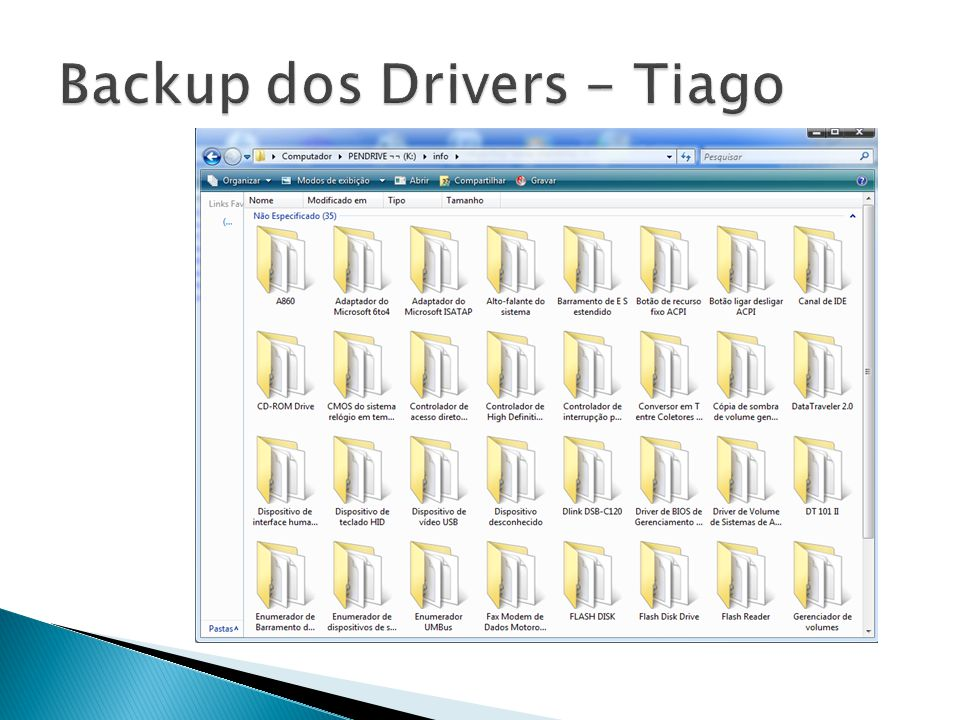 Backup dos Drivers - Tiago