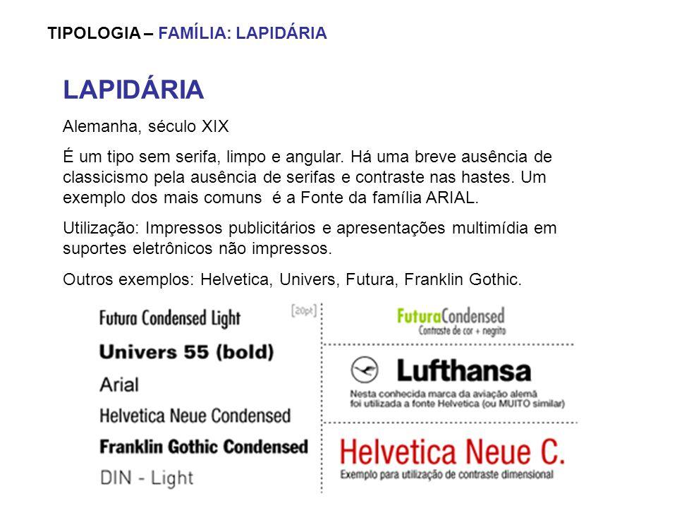 LAPIDÁRIA TIPOLOGIA – FAMÍLIA: LAPIDÁRIA Alemanha, século XIX