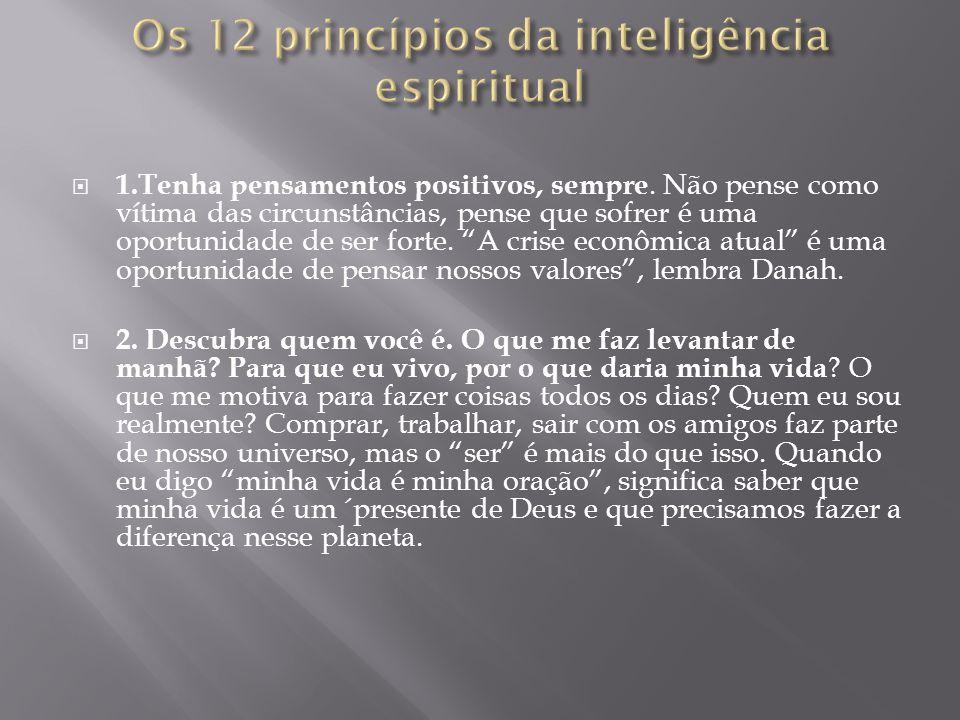 Os 12 princípios da inteligência espiritual