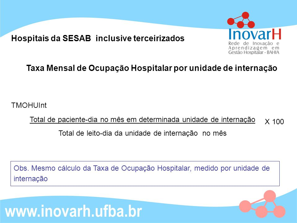Hospitais da SESAB inclusive terceirizados