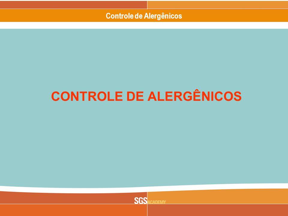 CONTROLE DE ALERGÊNICOS
