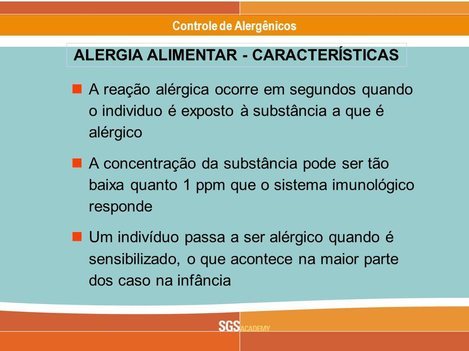 ALERGIA ALIMENTAR - CARACTERÍSTICAS