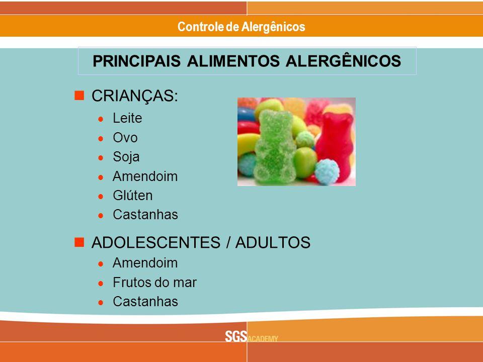 PRINCIPAIS ALIMENTOS ALERGÊNICOS