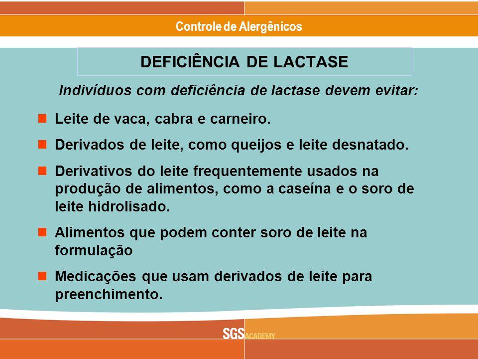 DEFICIÊNCIA DE LACTASE