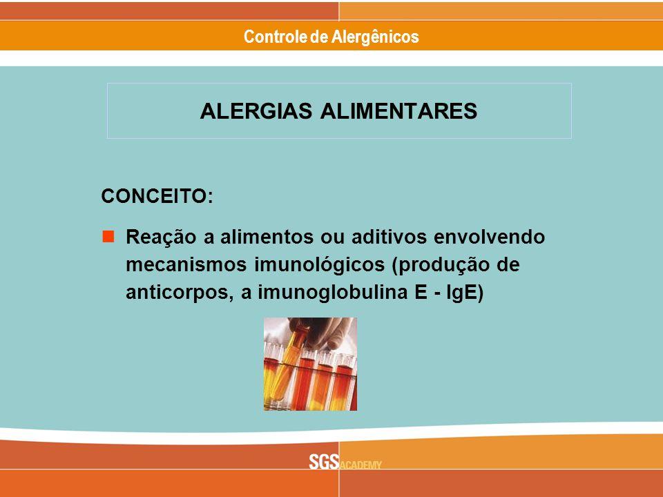 ALERGIAS ALIMENTARES CONCEITO:
