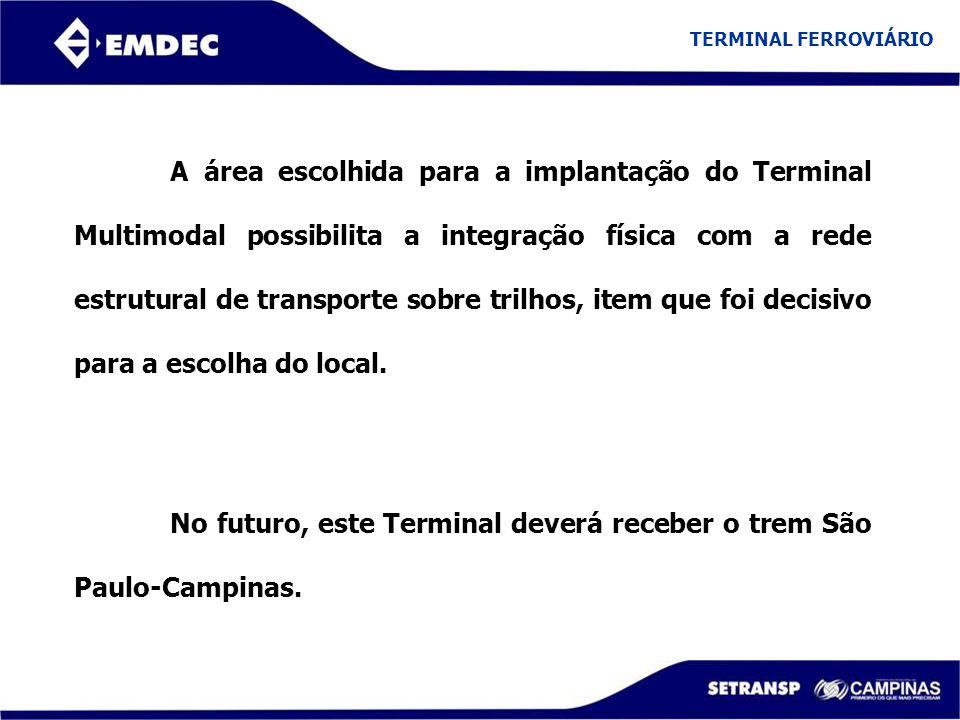 No futuro, este Terminal deverá receber o trem São Paulo-Campinas.