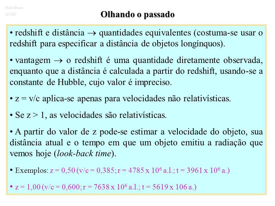 z = v/c aplica-se apenas para velocidades não relativísticas.