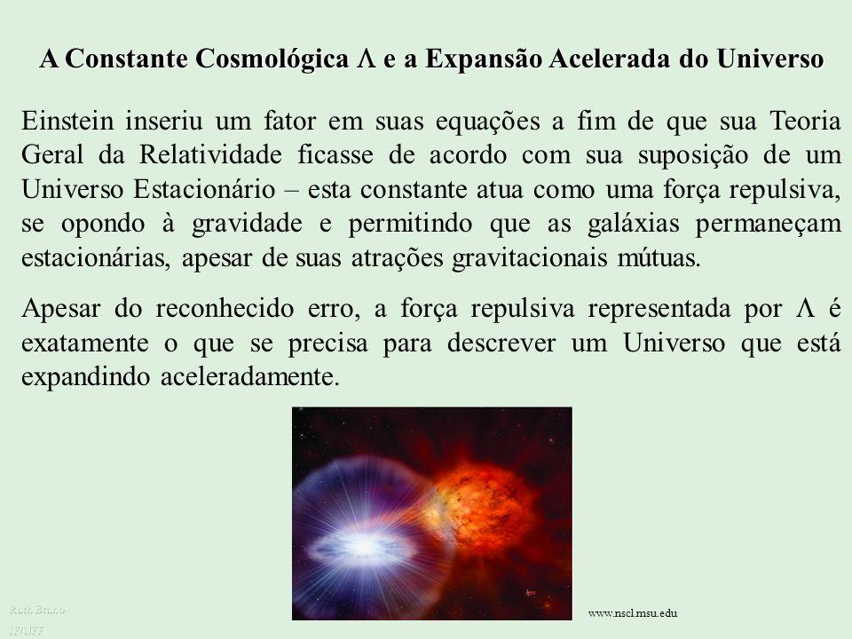 A Constante Cosmológica  e a Expansão Acelerada do Universo