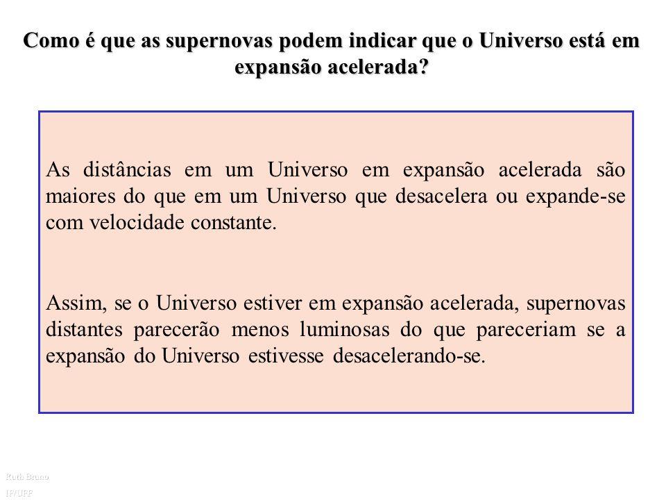 Como é que as supernovas podem indicar que o Universo está em expansão acelerada