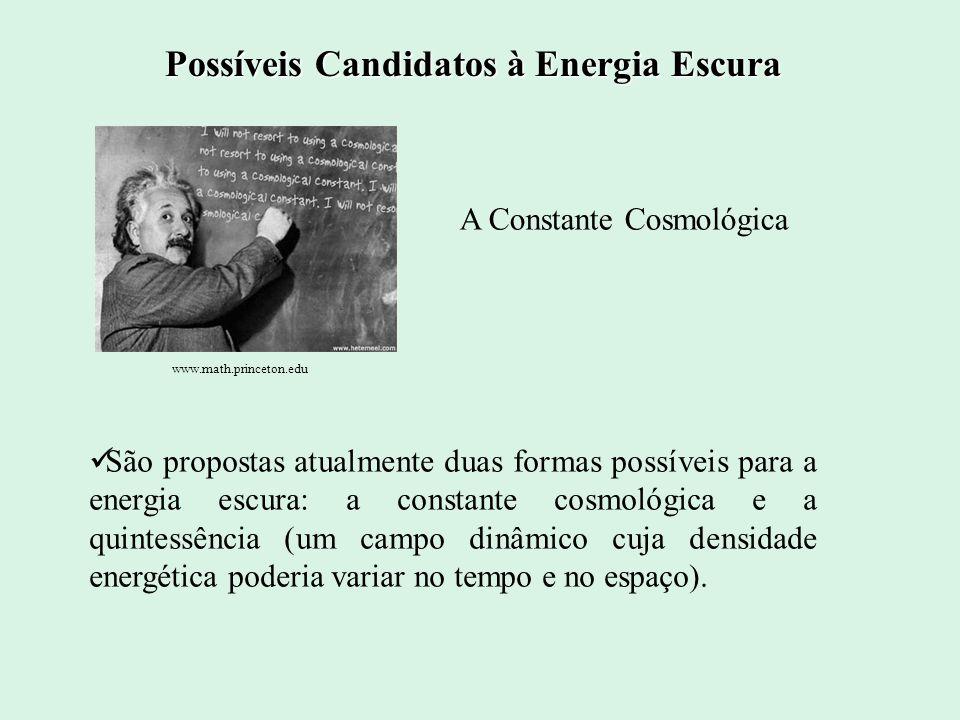 Possíveis Candidatos à Energia Escura