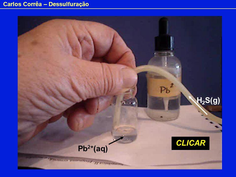 H2S(g) CLICAR Pb2+(aq)
