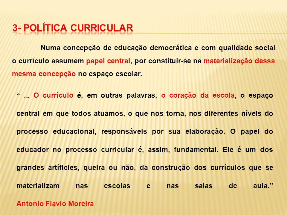 3- POLÍTICA CURRICULAR