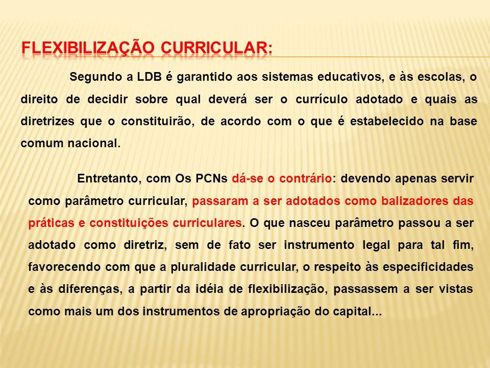 FLEXIBILIZAÇÃO CURRICULAR: