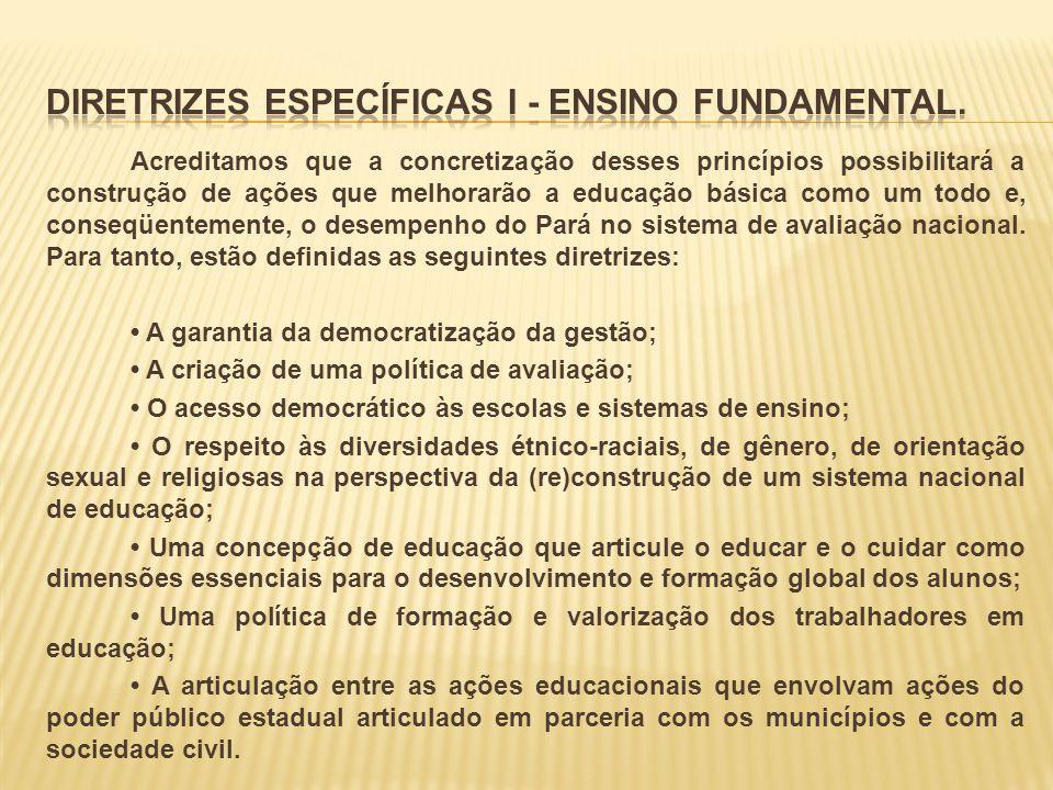 DIRETRIZES ESPECÍFICAS I - ENSINO FUNDAMENTAL.