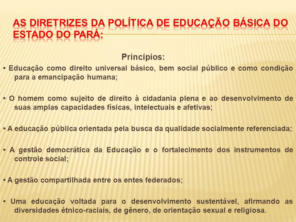 As diretrizes da Política de Educação Básica do Estado do Pará: