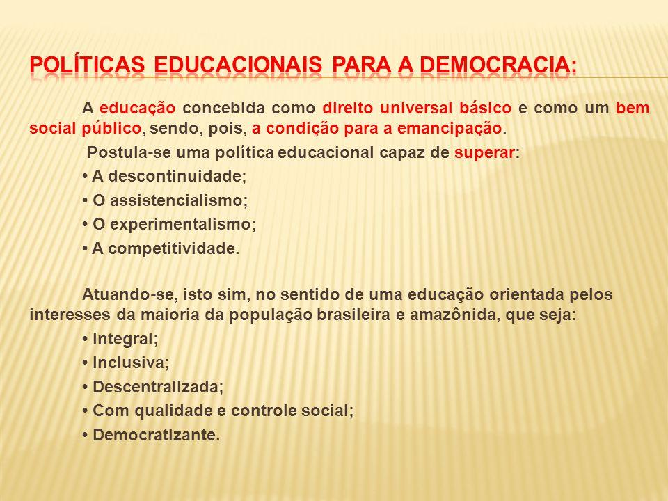 Políticas educacionais para a democracia: