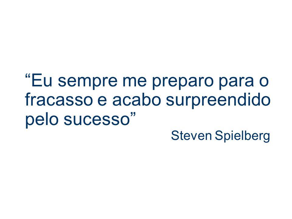 Eu sempre me preparo para o fracasso e acabo surpreendido pelo sucesso Steven Spielberg