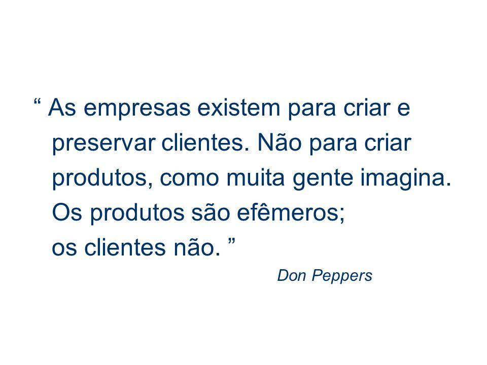 As empresas existem para criar e preservar clientes. Não para criar
