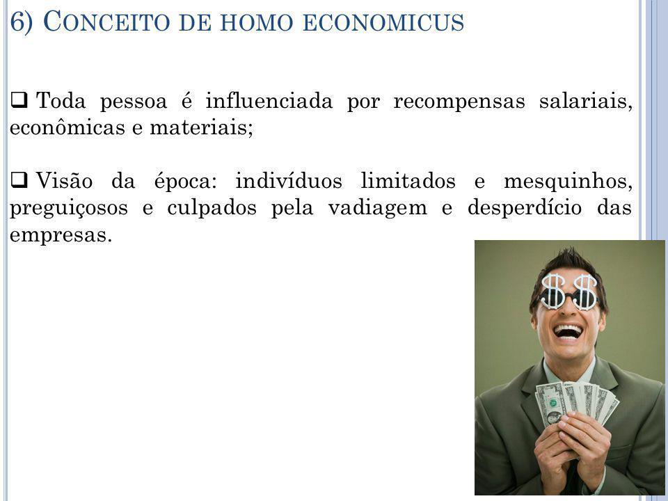 6) Conceito de homo economicus