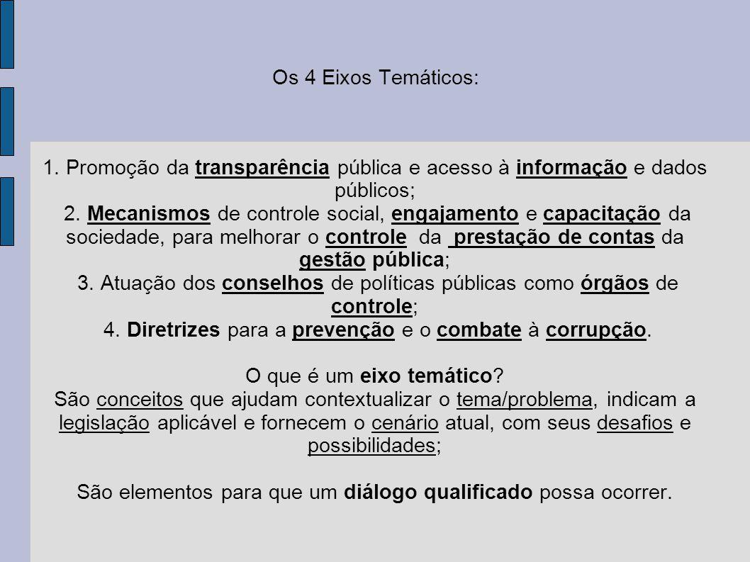 4. Diretrizes para a prevenção e o combate à corrupção.