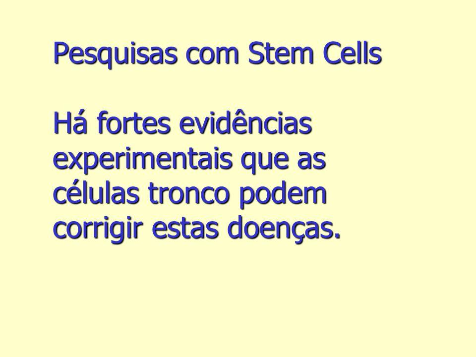 Pesquisas com Stem Cells