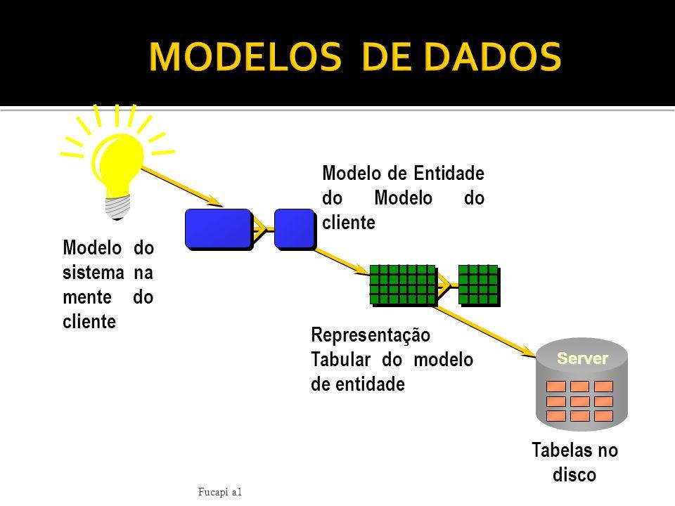 MODELOS DE DADOS Modelo de Entidade do Modelo do cliente