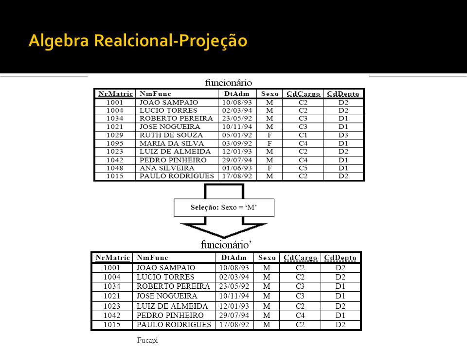 Algebra Realcional-Projeção